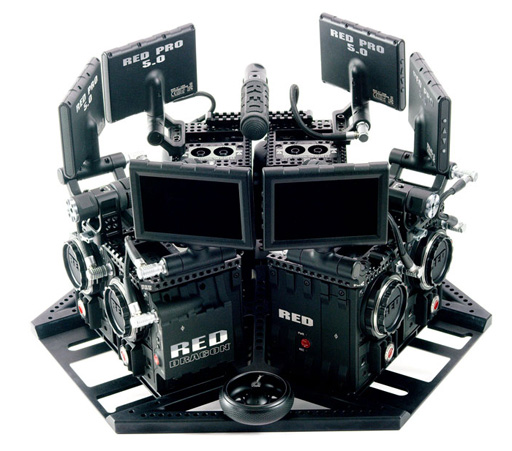 Red Dragon 6k 360 3D stereoscopic capture rig by NextVR_Rig1