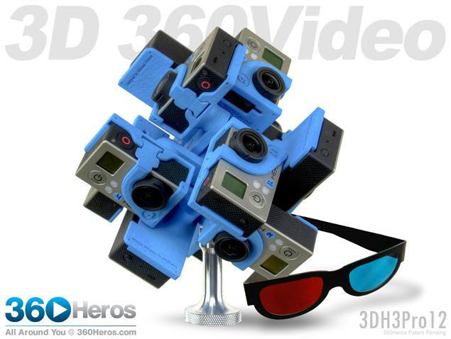 360Hero GoPro stereo 360 rig