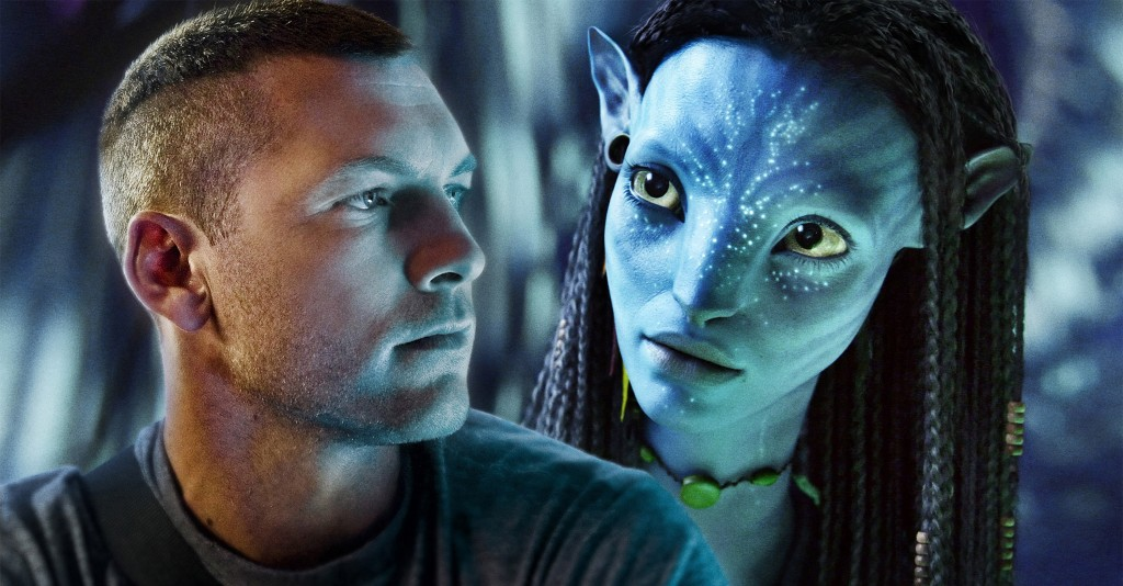 L to R Jake Sully (Sam Worthington) and Neytiri (Zoë Saldana).