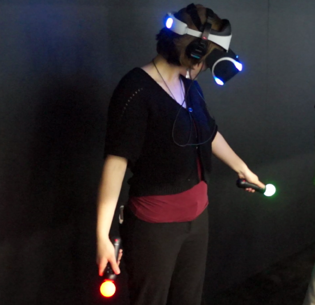 Testing out the Sony Move hand controllers paired with the Sony Morpheus VR HMD for the PlayStation 4