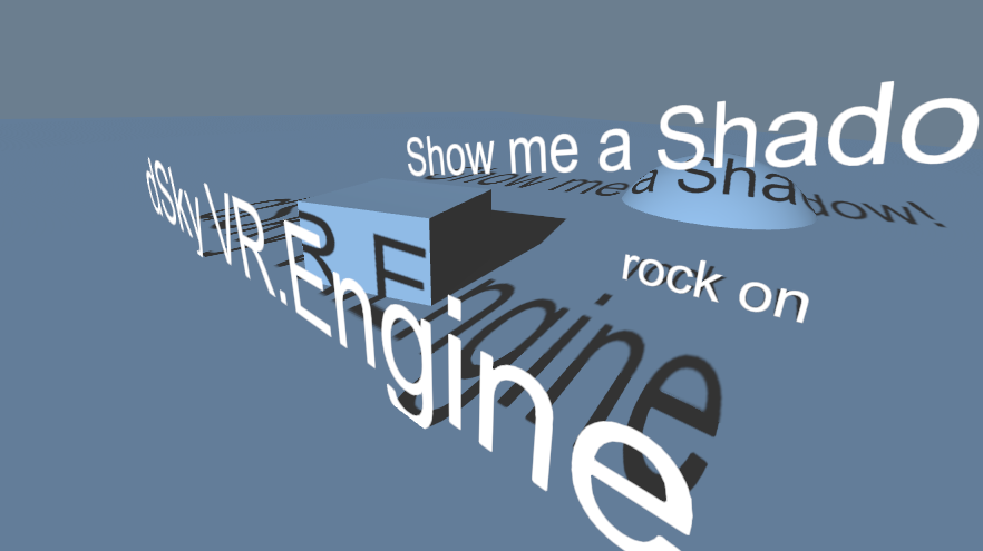 real time shadows on textmesh in unity3d